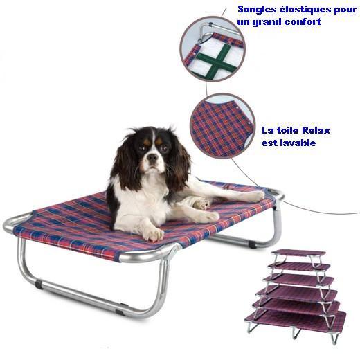 lit pliant relax lit pour chien accessoires pour chien morin france. Black Bedroom Furniture Sets. Home Design Ideas
