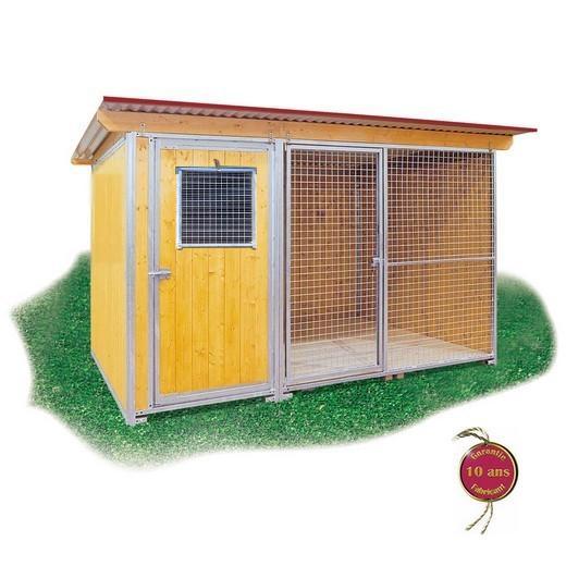 Chenil en kit SUPER ELEVEUR JUNIOR pour chien Enclos pour chien, parcà chien, chenil, bois et  # Enclos Pour Chien En Bois