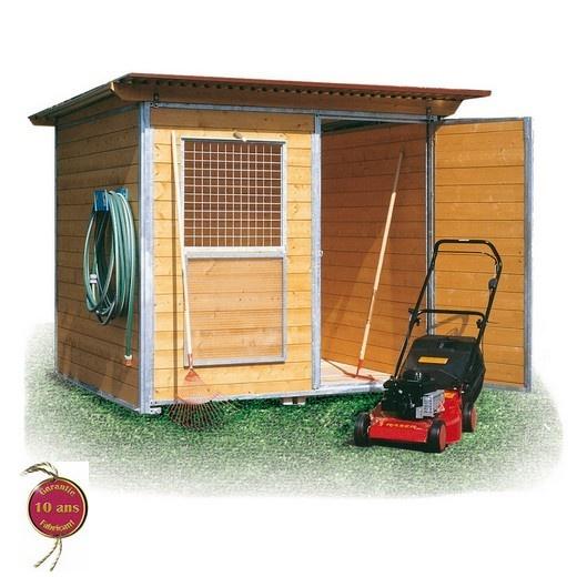 Chenil pour chien kit rustica garden enclos pour chien parc chien chenil bois et m tal for Cloture jardin pour chien