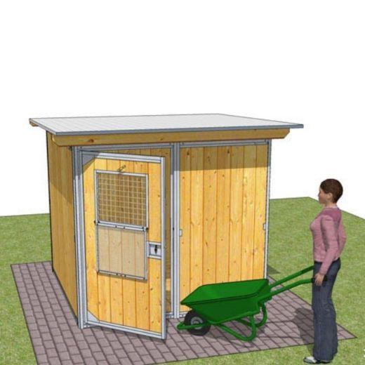 Chenil pour chien : kit RUSTICA GARDEN. Enclos pour chien, parc à ...