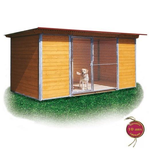 Chenil en kit PROTECTION INTEGRALE pour chien Enclos pour chien, parcà chien, chenil, bois et  # Enclos Pour Chien En Bois
