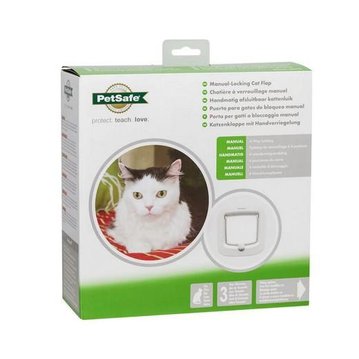 Porte pour chats verrouillage manuel staywell trappe chati re et barri re de porte - Trappe de porte pour chien ...