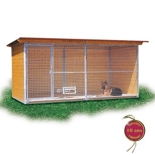 chenil en kit confort pour chien enclos pour chien parc. Black Bedroom Furniture Sets. Home Design Ideas