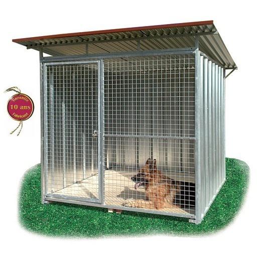 chenil en kit t l enclos pour chien parc chien. Black Bedroom Furniture Sets. Home Design Ideas