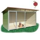 Chenil en kit t�l� laqu� standard pour chien - Version fa�ade en GRILLAGE
