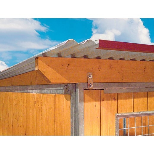 toiture accessoires et pi ces d tach es pour chenils chien toiture plancher et fixations. Black Bedroom Furniture Sets. Home Design Ideas