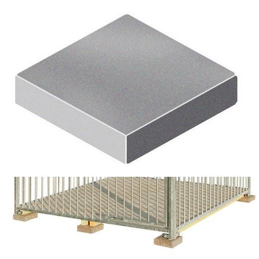 plot de fondation pour chenil en kit accessoires et. Black Bedroom Furniture Sets. Home Design Ideas