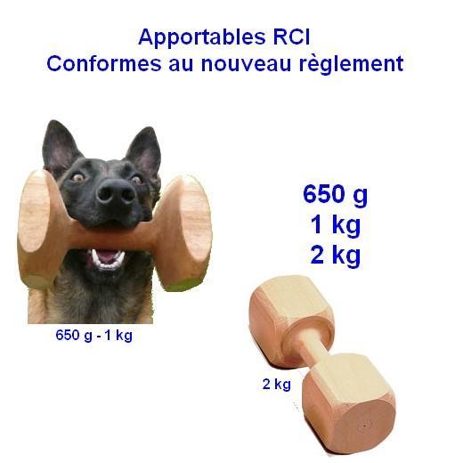 Apportables en bois pour Obéissance / R.C.I. - Sport canin