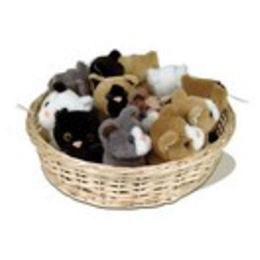corbeille avec 12 chats en peluche tapis et jouets d 39 veil interactif pour le divertissement. Black Bedroom Furniture Sets. Home Design Ideas