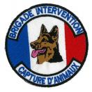 Ecusson rond BRIGADE INTERVENTION - CAPTURE ANIMAUX