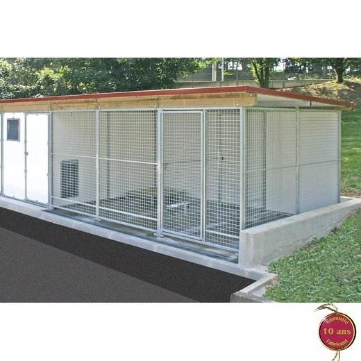 chenil cprs pro chenils en kit pour chien parc chien. Black Bedroom Furniture Sets. Home Design Ideas