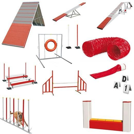 parcours agility complet basic de 16 agr s agility systems sport canin obstacles pour. Black Bedroom Furniture Sets. Home Design Ideas
