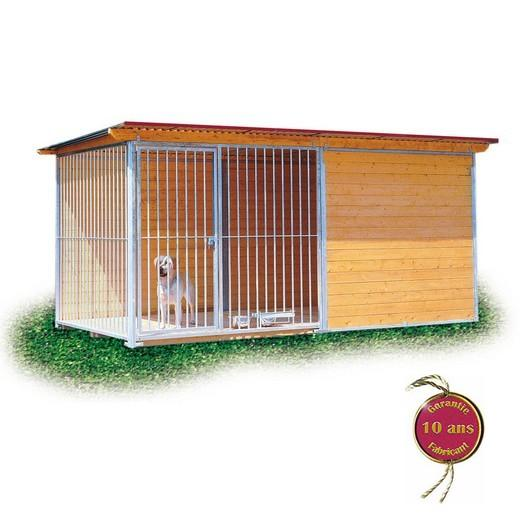 Chenil en kit CONFORT pour chien Enclos pour chien, parcà chien, chenil, bois et métal Morin  # Enclos Pour Chien En Bois