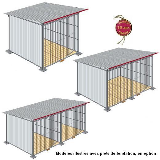 chenil en kit t l galvanis enclos pour chien parc. Black Bedroom Furniture Sets. Home Design Ideas