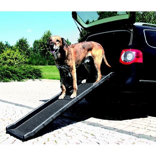 Rampe d acc s pliante mod le plastique chien bless for Rampe dacces voiture