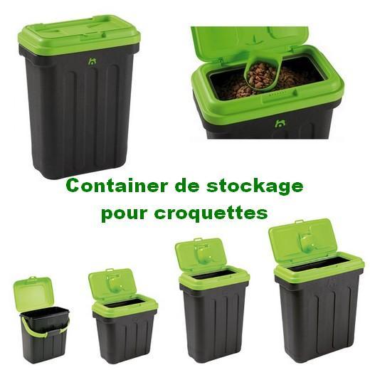 container de stockage croquette chien et chat stockage des croquettes nourrisseurs support. Black Bedroom Furniture Sets. Home Design Ideas