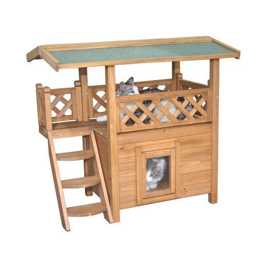 Maisonnette en bois lodge d 39 int rieur ou d 39 ext rieur pour for Repulsif chien et chat exterieur