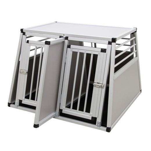 cage de transport double en aluminium pour deux chiens caisses de transport morin accessoires. Black Bedroom Furniture Sets. Home Design Ideas