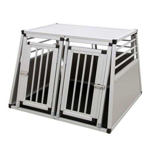 cage de transport double en aluminium pour deux chiens. Black Bedroom Furniture Sets. Home Design Ideas