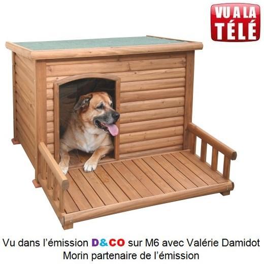 Niche bois alaska terrasse niche pour chien bancs de - Fabrication niche en bois pour chien ...