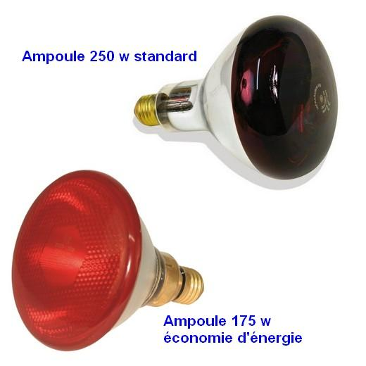 Ampoule infrarouge accessoires pour enclos et parc chiot - Lampe chauffante infrarouge ...