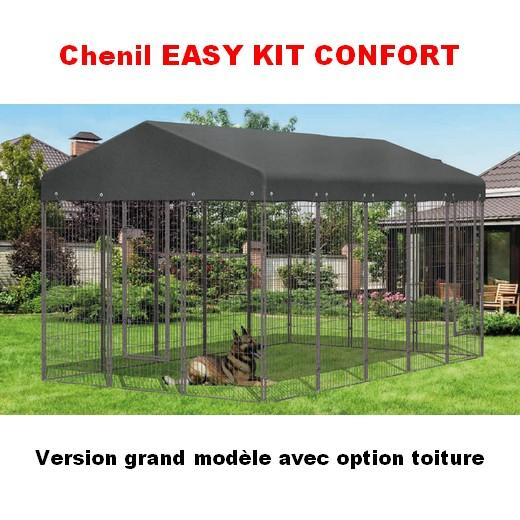 enclos chenil easy kit chien enclos pour chien parc chien chenil bois et m tal morin. Black Bedroom Furniture Sets. Home Design Ideas