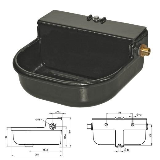 abreuvoir en fonte pour chien niveau d 39 eau constant morin accessoires et alimentation pour. Black Bedroom Furniture Sets. Home Design Ideas