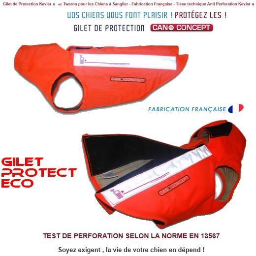 protect eco kevlar. gilet et harnais de protection pour chien de