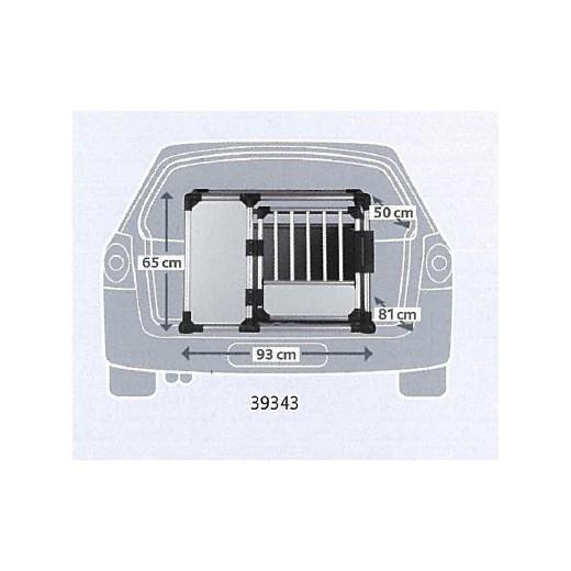 cage de transport alu autobox pour chien caisses de transport aluminium morin accessoires. Black Bedroom Furniture Sets. Home Design Ideas