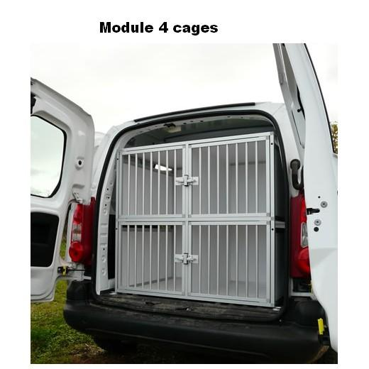 cage de transport dogbox pro module 4 cages pour chiens caisses sur mesure pour le transport. Black Bedroom Furniture Sets. Home Design Ideas