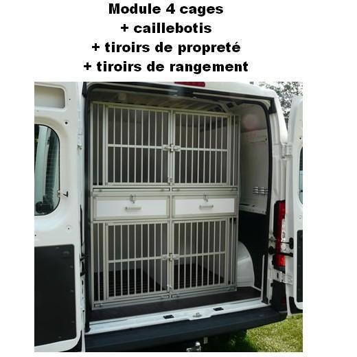 cage de transport dogbox pro module 4 cages pour chiens caisses sur mesure pour le transport. Black Bedroom Furniture Sets. Home Design Ideas
