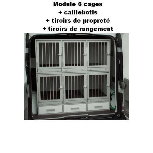cage de transport pour chiens dogbox pro module 6 cages caisses de transport sur mesure. Black Bedroom Furniture Sets. Home Design Ideas