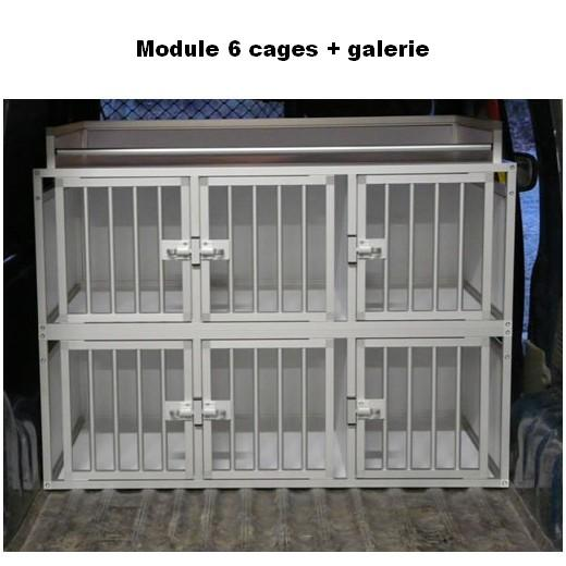 cage de transport pour chiens dogbox pro module 6 cages. Black Bedroom Furniture Sets. Home Design Ideas