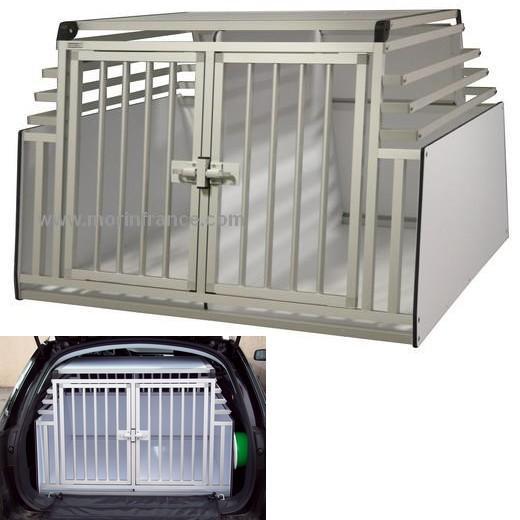 cage de transport dogbox pro double pour chiens mod le rehauss e caisses de transport pour. Black Bedroom Furniture Sets. Home Design Ideas