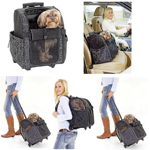 sac de transport trolley luxe sac dos pour chiens et chats sac transport chien. Black Bedroom Furniture Sets. Home Design Ideas
