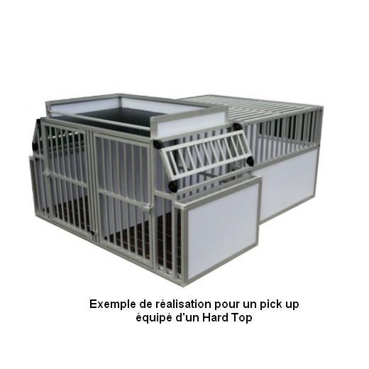 cage de transport dogbox pour chiens am nagement de pick up caisses de transport sur mesure. Black Bedroom Furniture Sets. Home Design Ideas