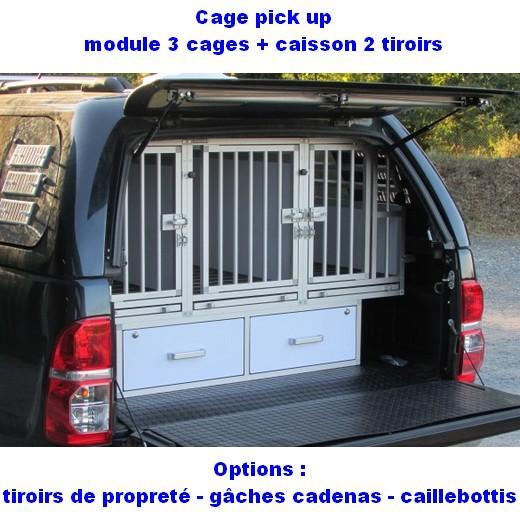 Amenagement Vehicule Pour Chien cage de transport dogbox pour chiens- aménagement de pick up