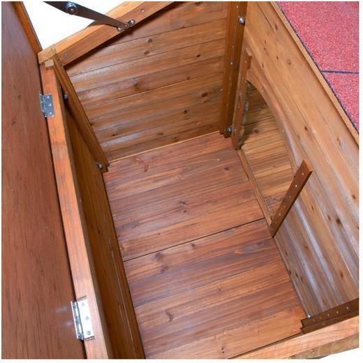 Niche bois chalet natura niche bois pour chien bancs de for Niche pour chat exterieur bois
