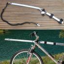 Barre courbe 30° Canibike VTT ou vélo + ligne de trait 1 chien