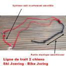 Ligne de trait 2 chiens pour vélo / Bike Joëring / Canicross / Ski Joering
