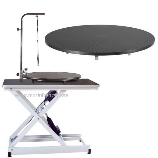 plateau tournant pour table de toilettage table. Black Bedroom Furniture Sets. Home Design Ideas