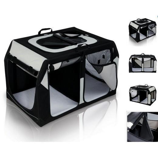 cage de transport pliante double en cordura nylon adapt e aux chiens et aux chats morin. Black Bedroom Furniture Sets. Home Design Ideas