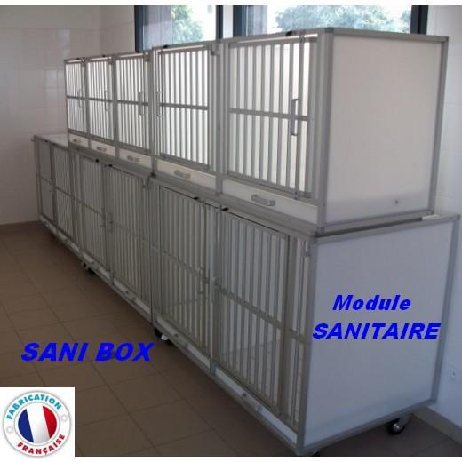 sani box caisse sanitaire boxe v t rinaire pour chien ou chat. Black Bedroom Furniture Sets. Home Design Ideas
