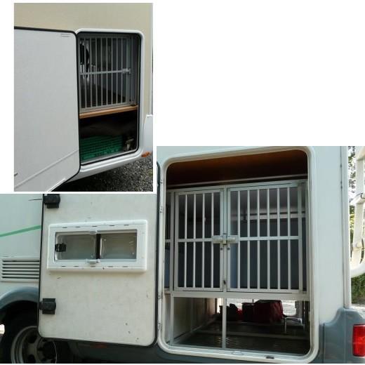 Cage de transport pour chien en soute camping car caisses - Amenagement soute camping car ...
