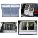 Cage de transport DogBox Pro double avec tiroir de rangement