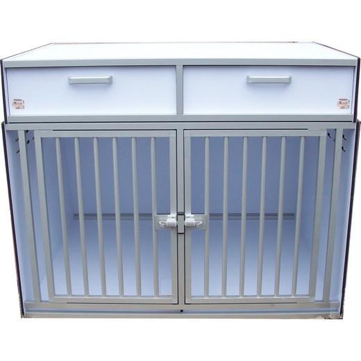 cage de transport pour chiens dogbox pro double avec. Black Bedroom Furniture Sets. Home Design Ideas