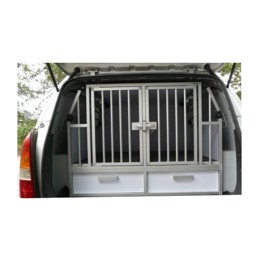 cage de transport pour chiens dogbox pro double avec. Black Bedroom Furniture Sets. Home Design Ideas