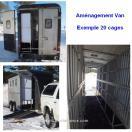 Aménagement cage pour Fourgon - Remorque - Van Chevaux