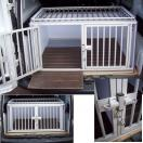 Cage de transport DogBox Pro double toit barreaux (2 chiens)