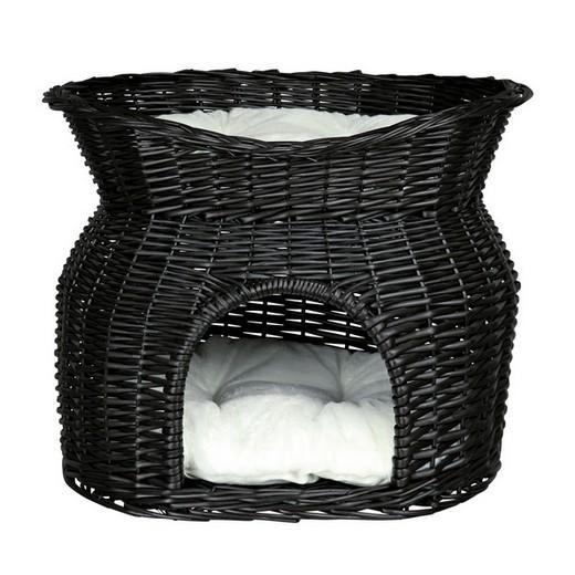 panier osier avec lit pour chat accessoires pour le. Black Bedroom Furniture Sets. Home Design Ideas